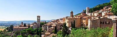 Blick auf Assisi, Umbrien