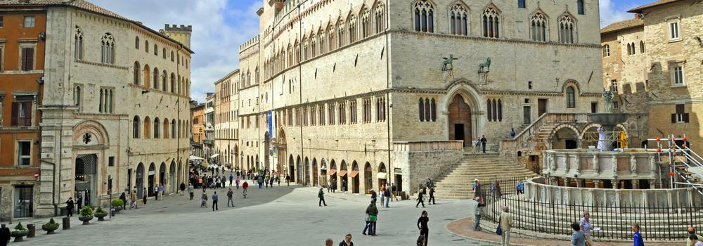 Perugia Marktplatz, Umbrien