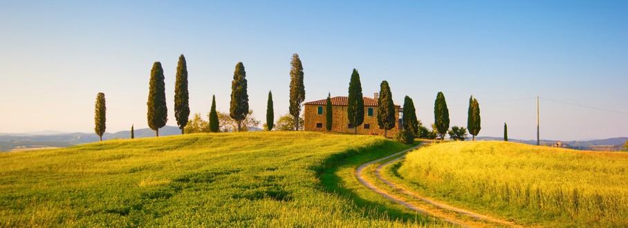Italien-Urlaub - Toskana-Haus am Feld